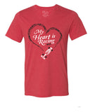 My Heart Is Racing (IN) Unisex V-Neck