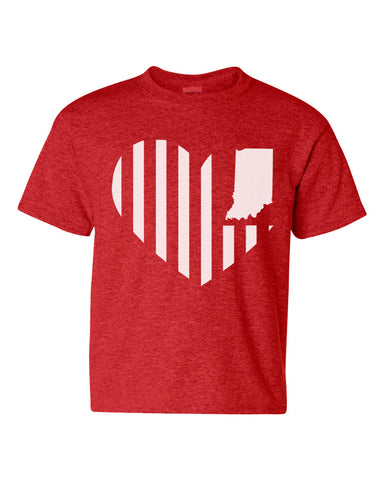 Kids -Heart Flag- (IN) Youth Tee