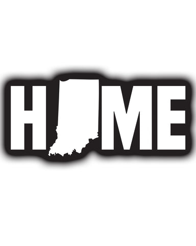 Home State (IN) -White Print-