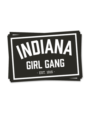 Indiana Girl Gang Stickers (24 Pk.)