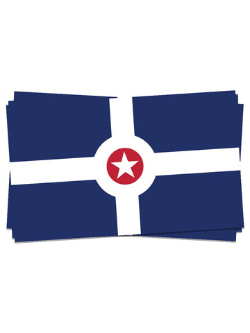 Indianapolis Flag Stickers (24 Pk.)
