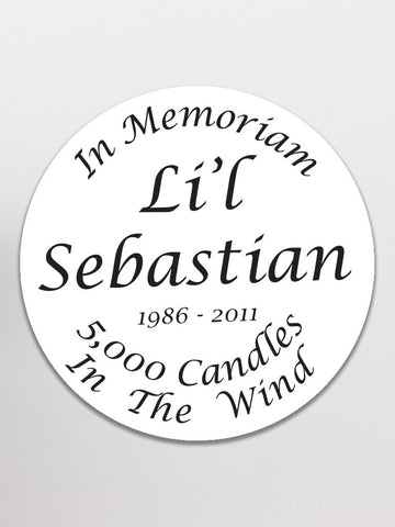 Lil' Sebastian Memorial Stickers (24pk)