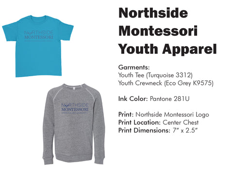 Northside Montessori Youth Apparel