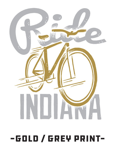 Ride Indiana Bicycle (IN) -Gold / Grey Print-