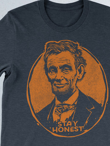 Stay Honest -Orange Print-