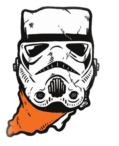 Hoosier Trooper (IN) -White and Orange Print-