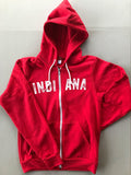 Vintage Indiana Zip-Up Hoodie - United State of Indiana: Indiana-Made T-Shirts and Gifts