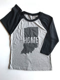 This is Home Youth Baseball Tee - United State of Indiana: Indiana-Made T-Shirts and Gifts