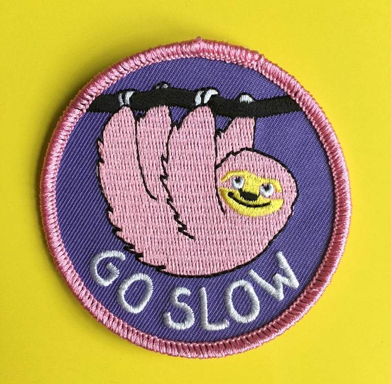 Go Slow Sloth Patch