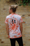Sunset Orange  | Tie-dye Printed Tee