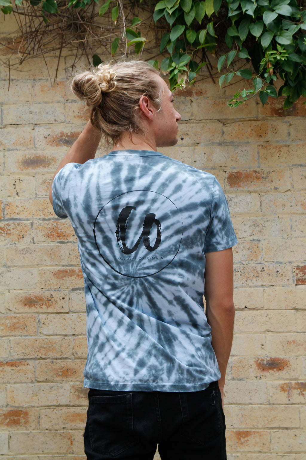 Midnight Black | Tie-dye Printed Tee