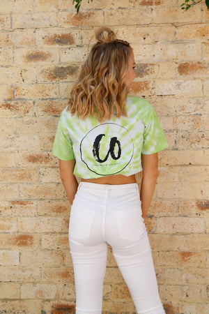 Lime Green | Tie-dye Printed Tee