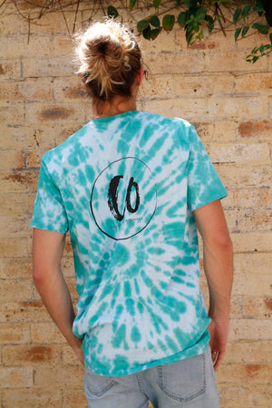 Tropical Teal | Tie-dye Printed Tee