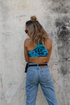 Ocean Blue | Tie-dye Sports Crop