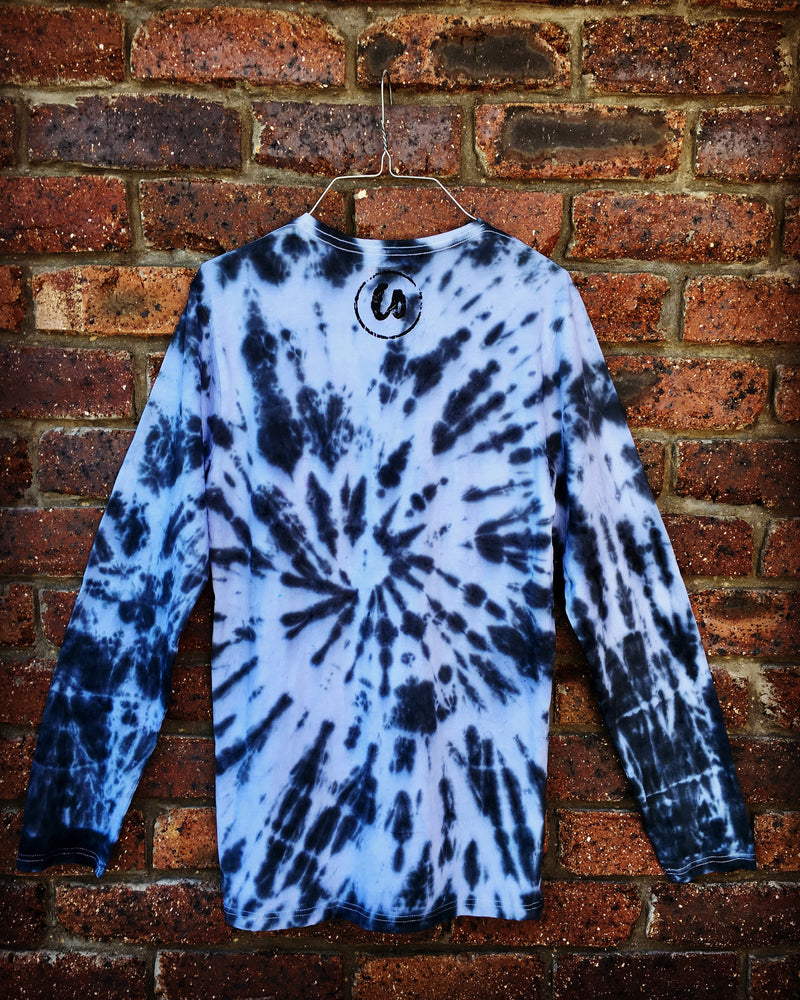 Midnight Black | Tie-dye Long Sleeve Shirt