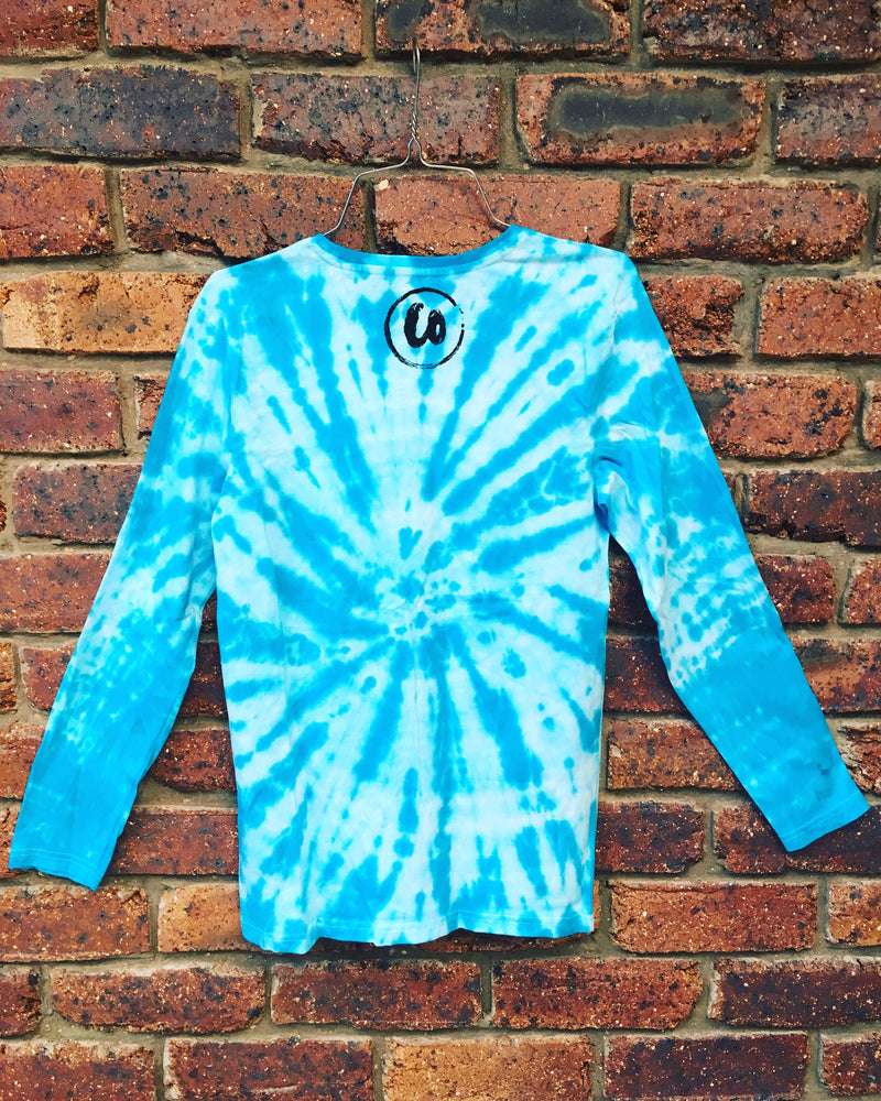 Tropical Teal | Tie-dye Long Sleeve Shirt