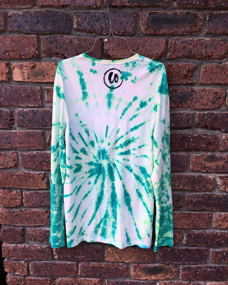 Forest Green | Tie-dye Long Sleeve Shirt