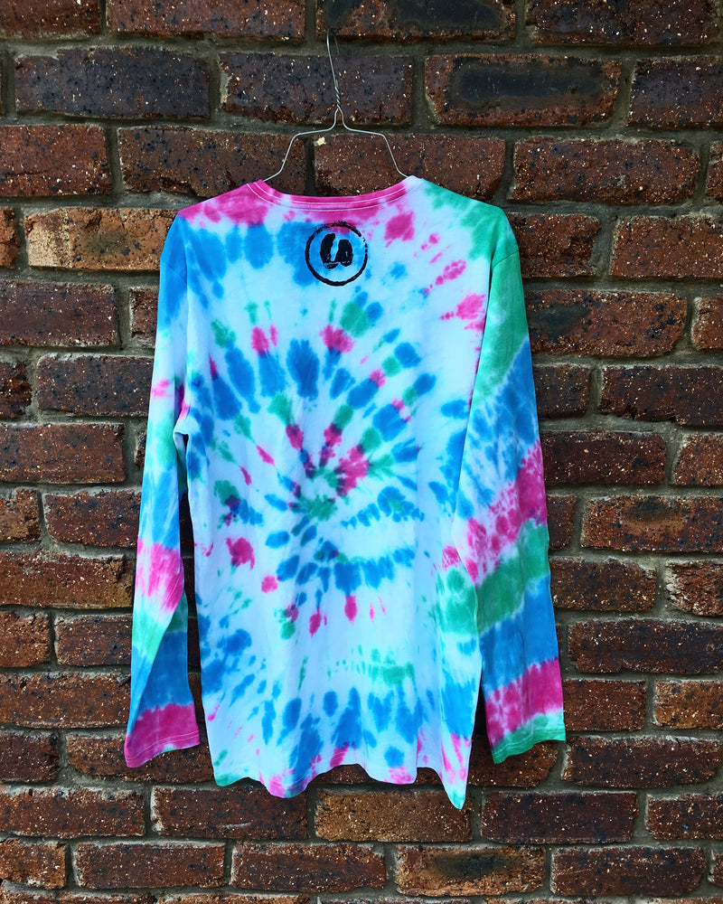 Long Sleeve | Pink, Blue & Green