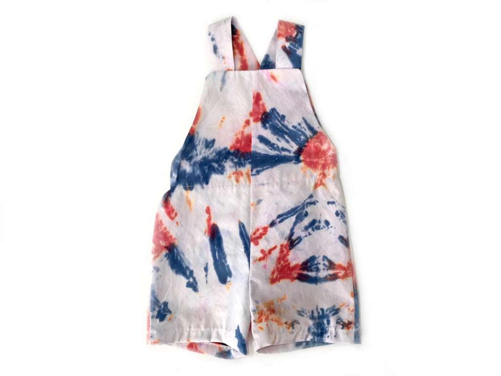 Red Dawn | Kids Tie-dye Overalls