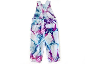 Magenta Madness | Kids Tie-dye Overalls