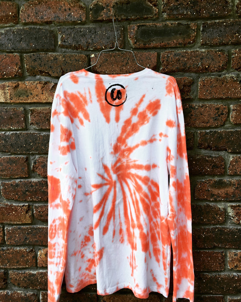 Sunset Orange | Tie-dye Long Sleeve Shirt