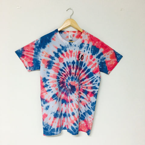 Red Dawn  | Tie-dye Printed Tee