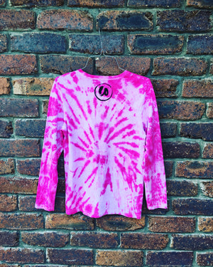 Barbie Pink | Tie-dye Long Sleeve Shirt