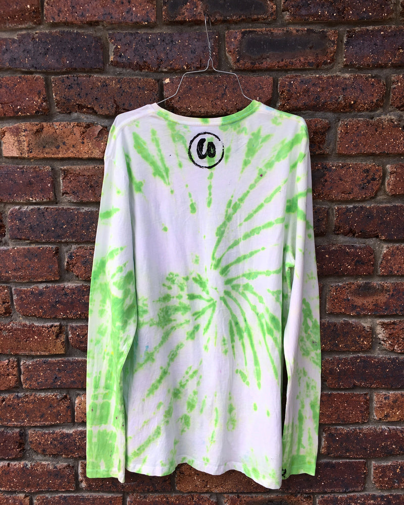 Lime Green | Tie-dye Long Sleeve Shirt