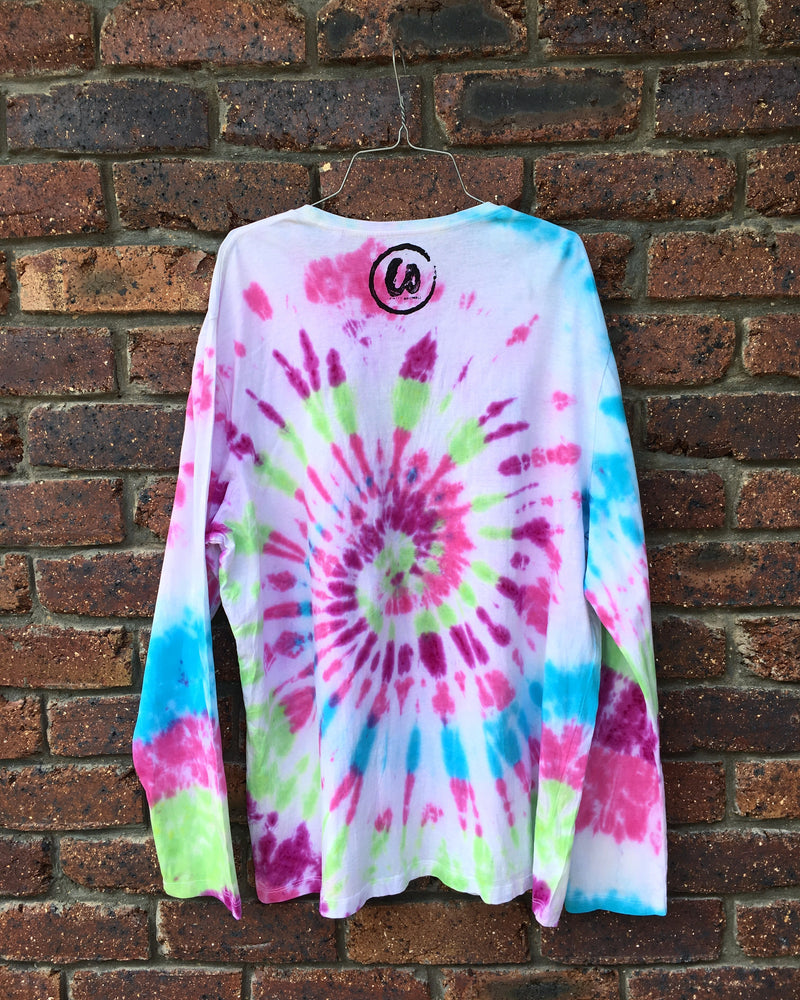 Long Sleeve | Pink, Purple, Blue & Green