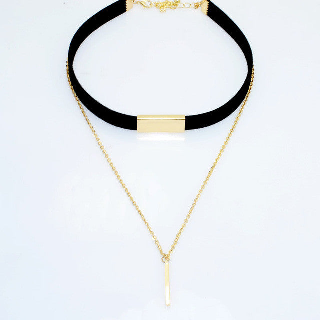 2 Layer Leather Choker