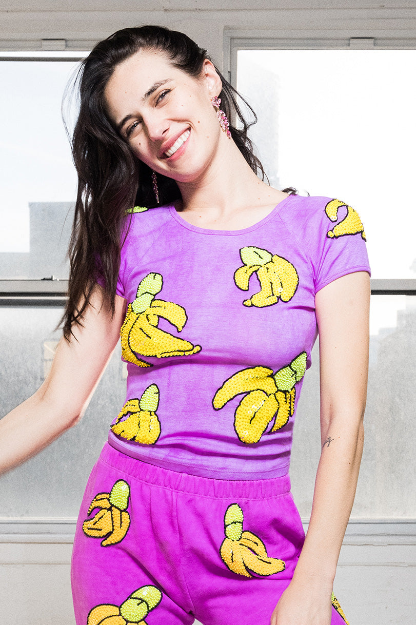 The Banana Cock Purple Tee