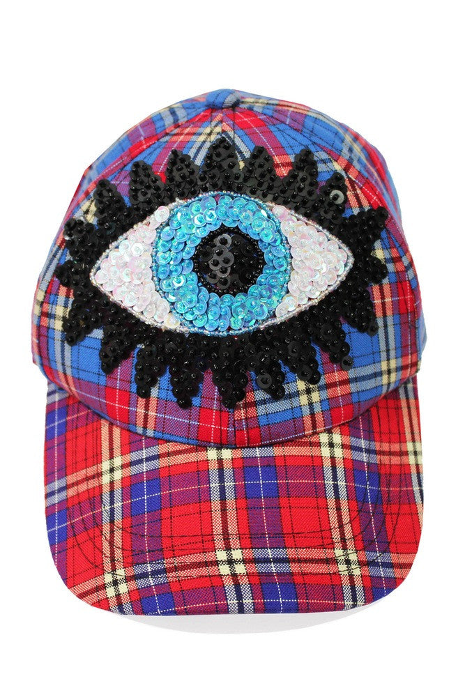 'BLUE EYE' Tartan Baseball Cap