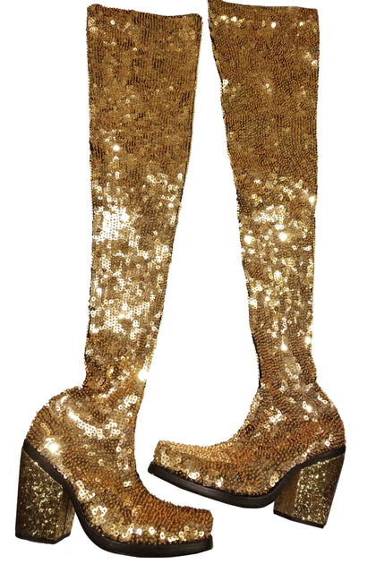UNRELEASED ONE-OFF! Gold Boots