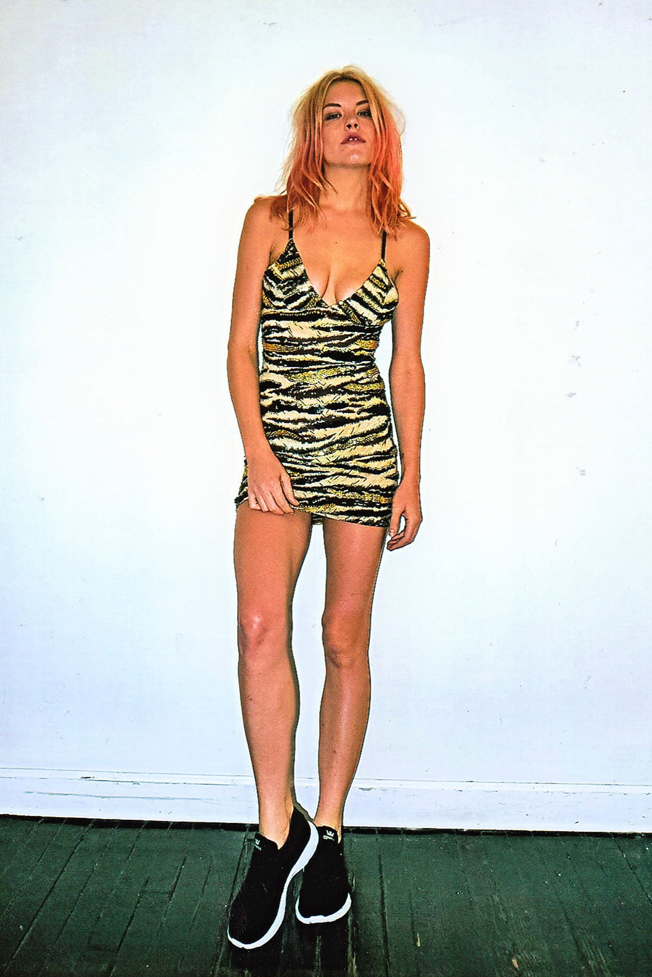 poison ivy mini bralet dress, poison ivy dress, poison ivy, tiger print sequinned mini dress, sequinned mini dress, sequins, tiger print, dress, discount universe, di$count universe
