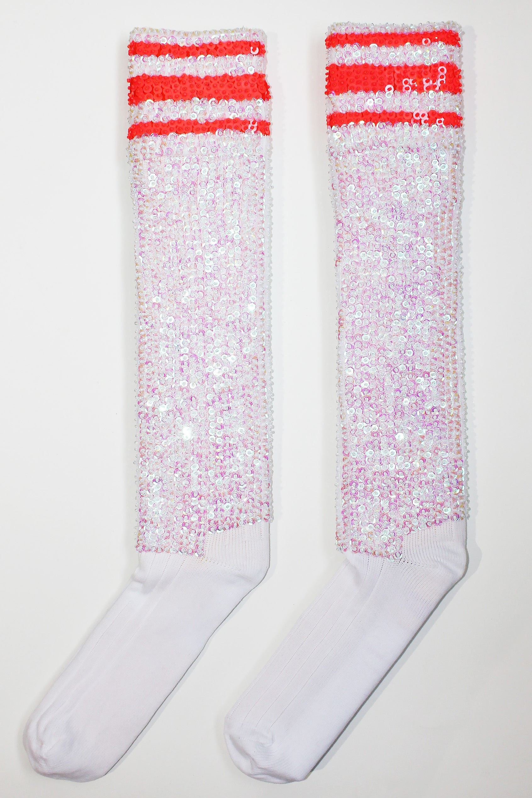 'White & Neon' Socks