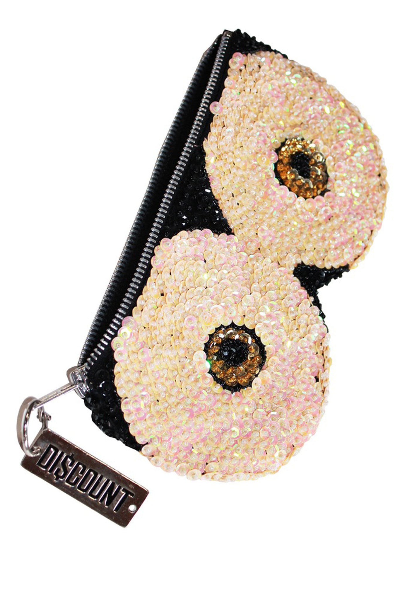 'BOOB' Hand-sequinned Clutch Wallet
