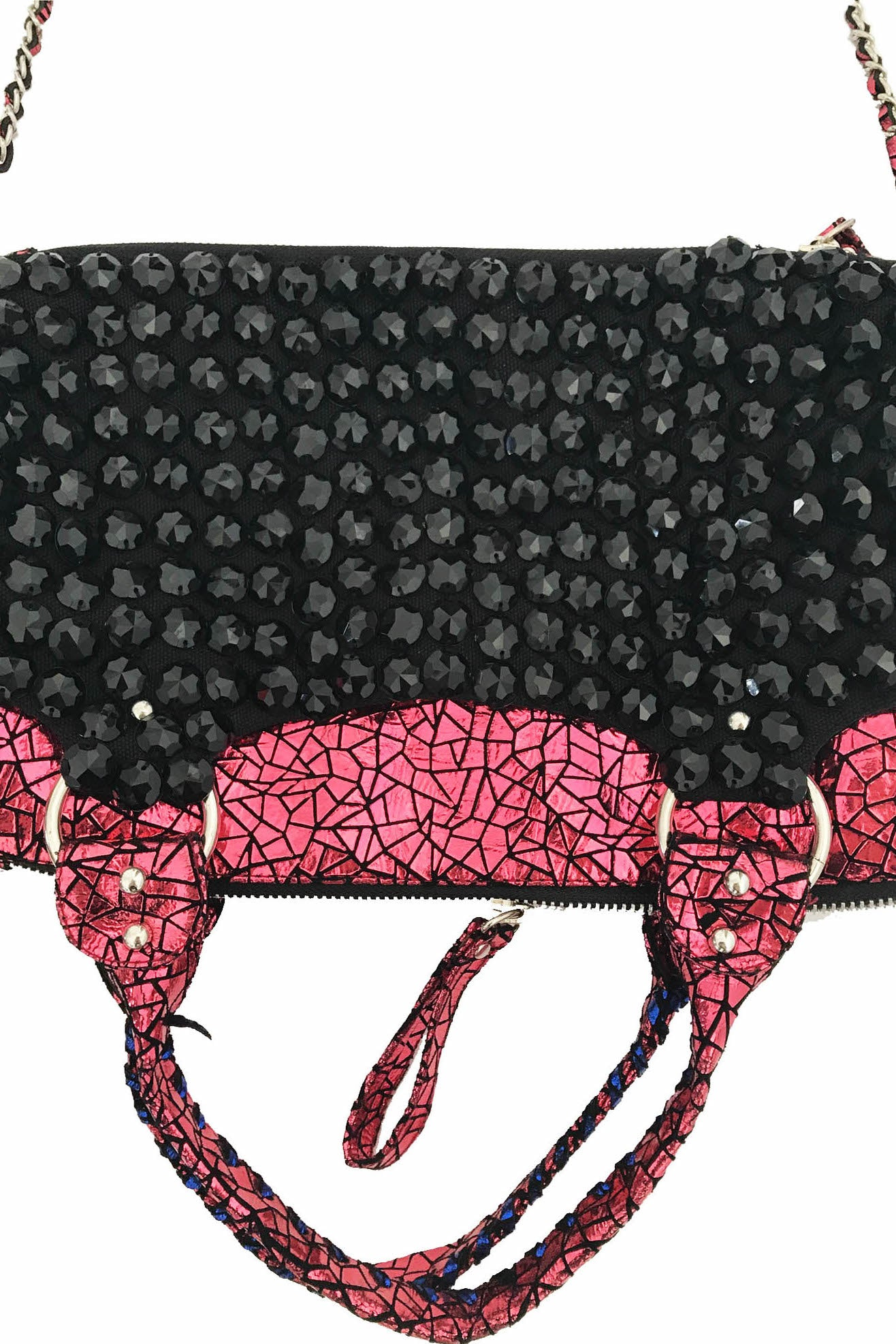 ONE-OFF!! Pink and Black Upside down bag