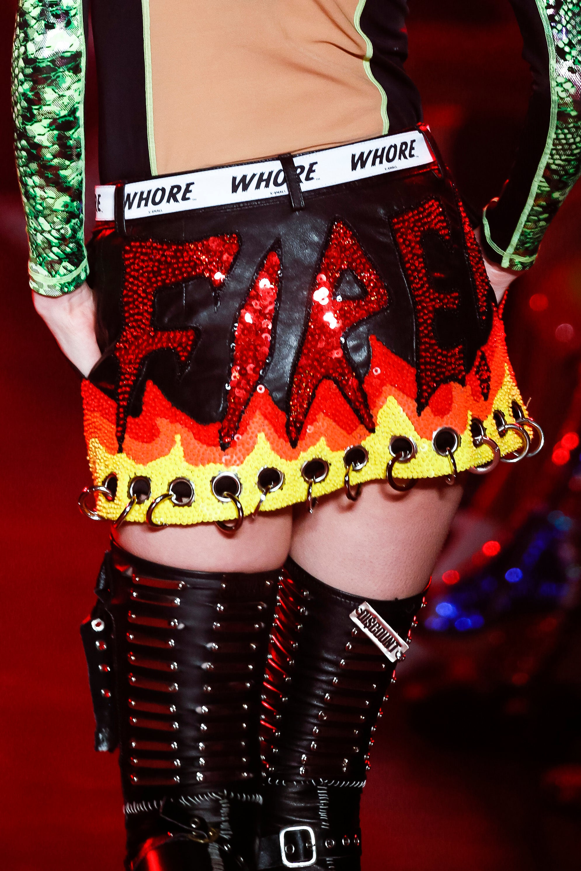 The Fire Up Leather Skirt
