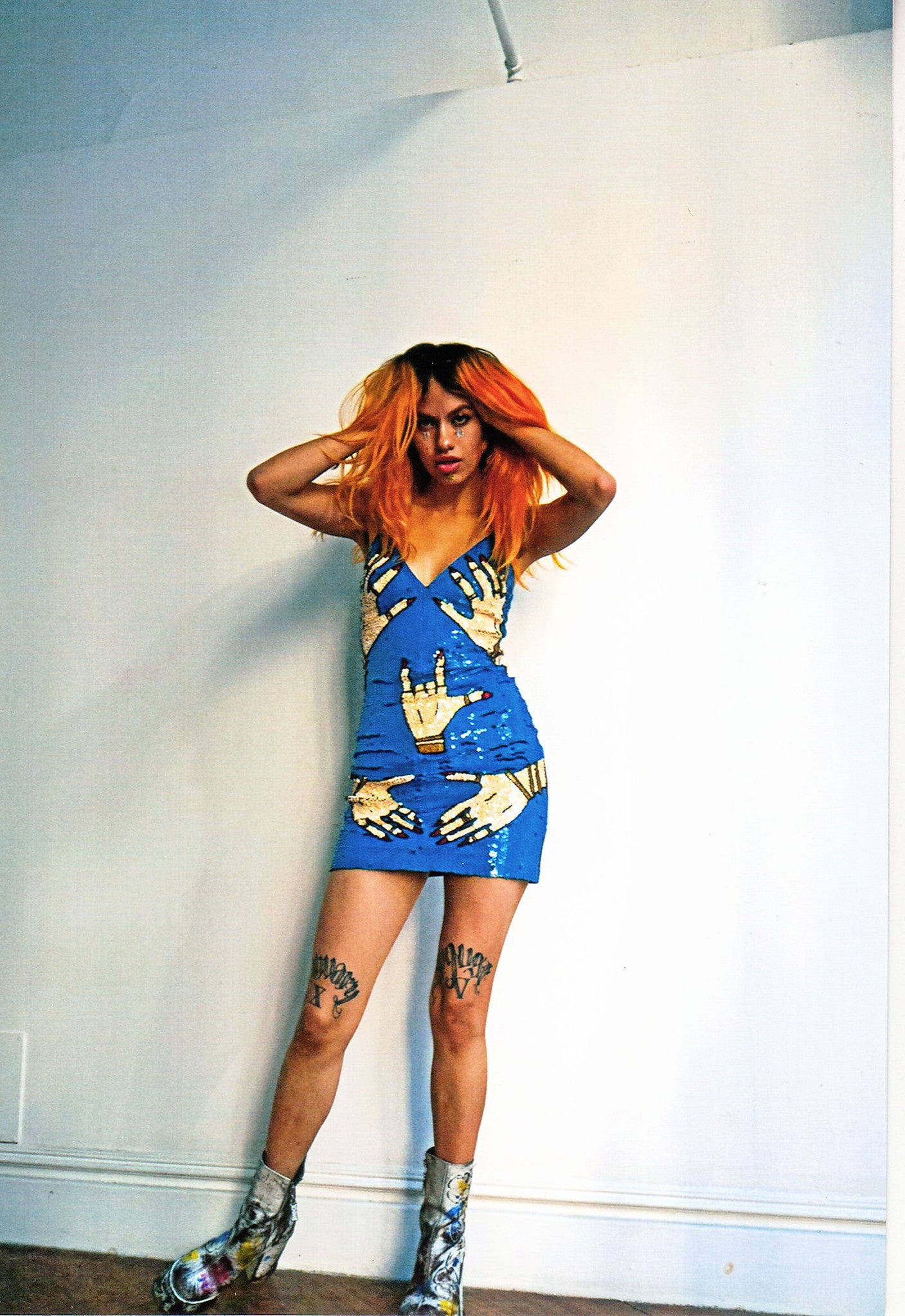 Limited Edition 'HANDS OFF' Mini Dress Blue