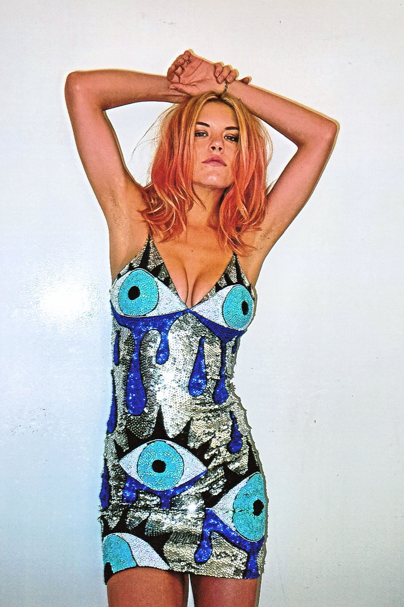 crying eye bralet mini dress, cyring eye mini dress, bralet mini dress, sequinned mini dress, bralet dress, sequinned eye, sequinned eyes, sequinned crying eyes, sequinned dress, sequinned bralet mini, sequins, crying, eyes, evil eye crying, eye dress, eyes, blue, silver, tears, discount universe, di$count universe, disco, mini dress