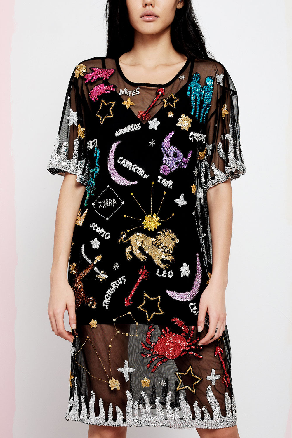 ASTROLOGY MESH DRESS