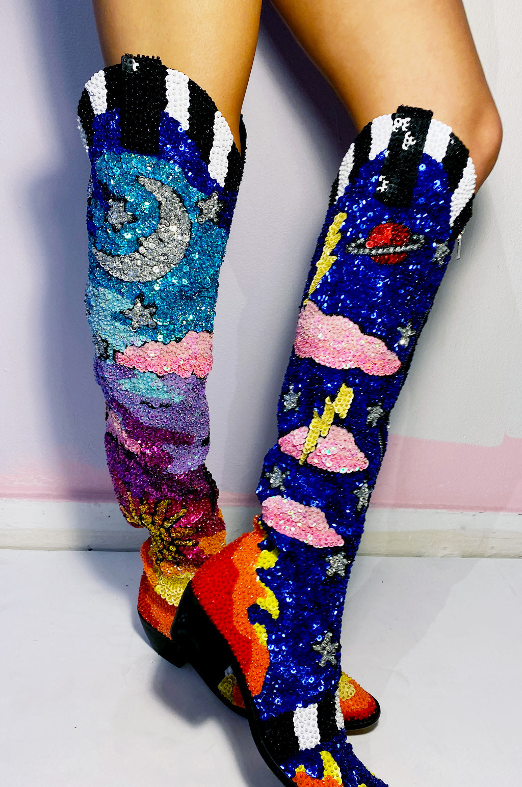The Starry Starry Night Cowboy Boots *Made-To-Order*