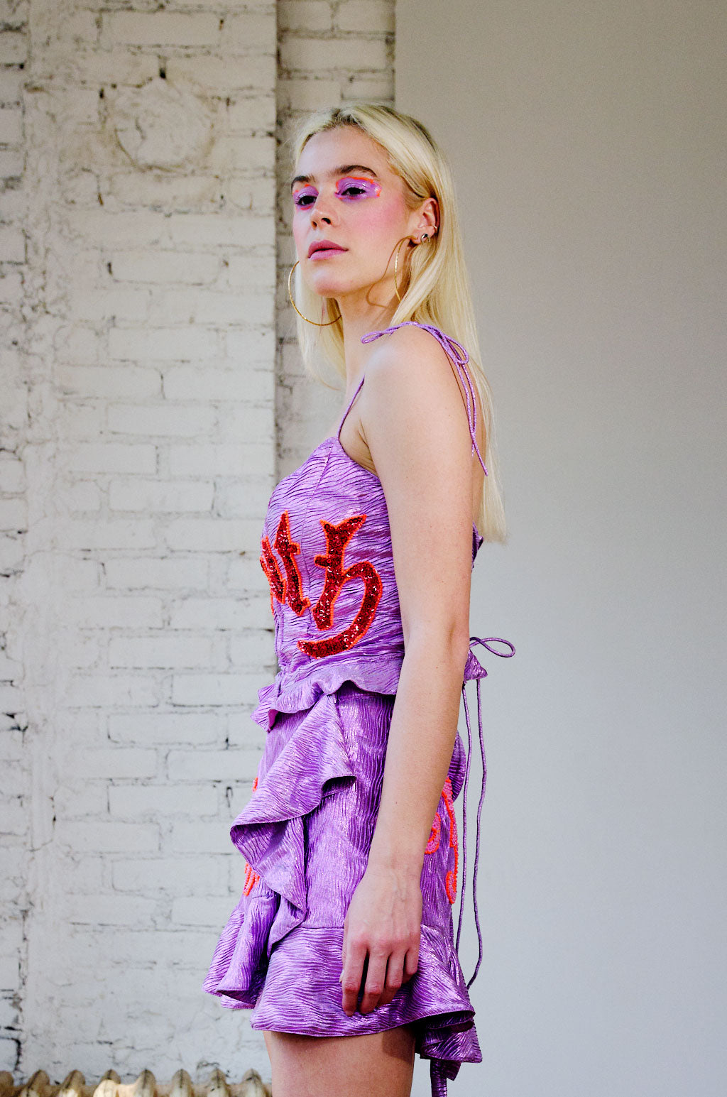 The Tainted Love Wrap Skirt in Purple Haze