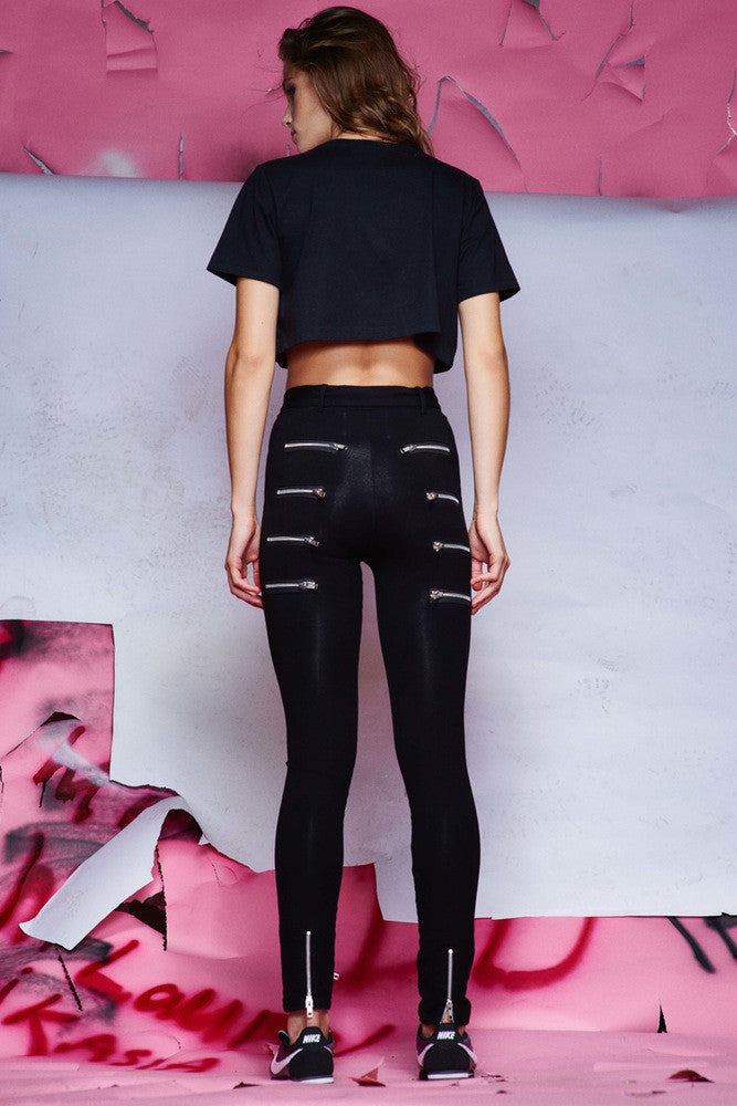 DISORDER HIGH-WAISTED PANTS