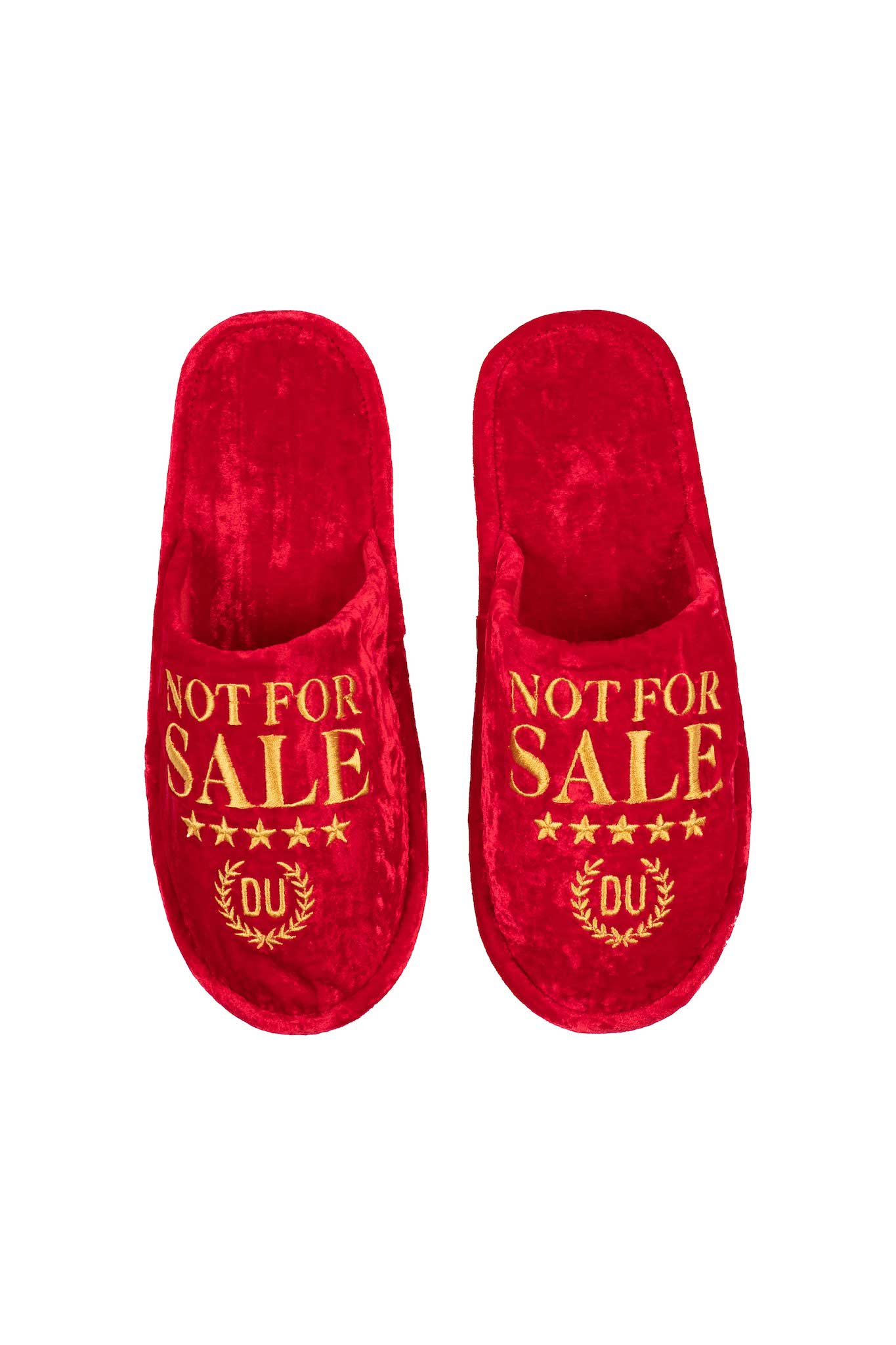 Not For Sale Silk Velvet House Slippers