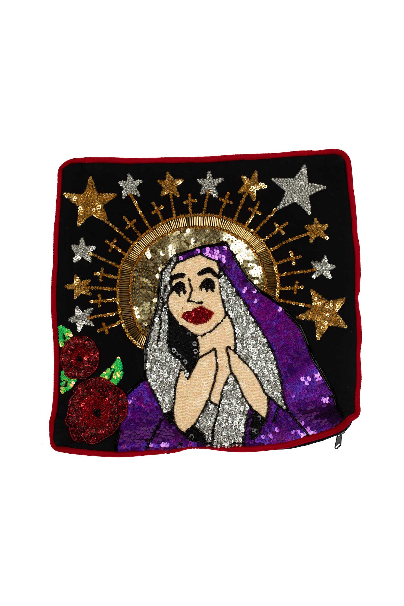 ONE OFF Virgin Mary small canvas pillow