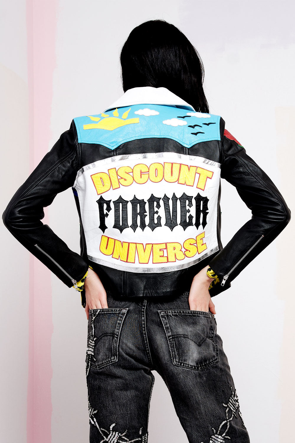 Pleasure Revenge Appliquè Leather Jacket