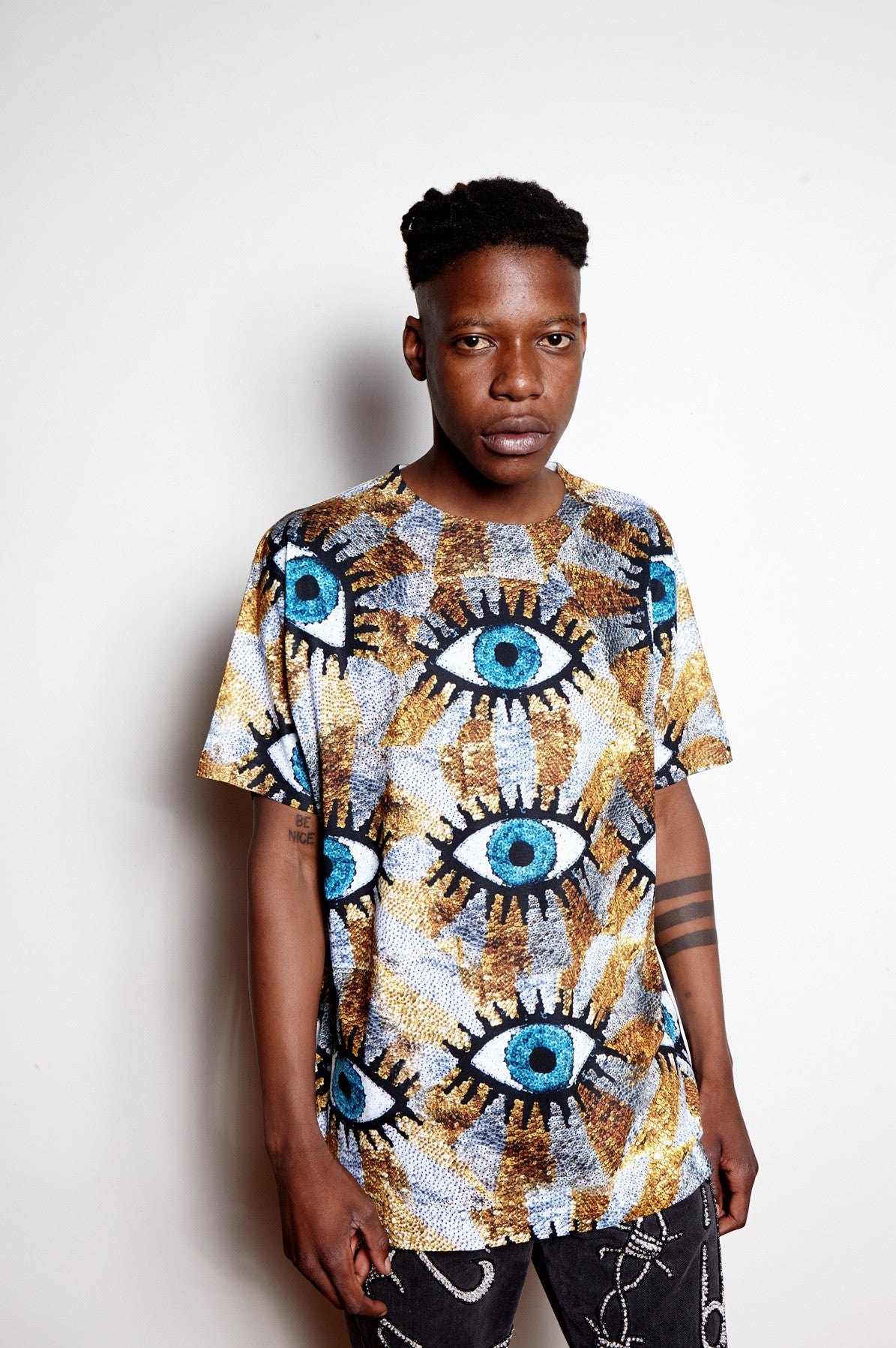 'EVIL EYE' Digital Print Tee