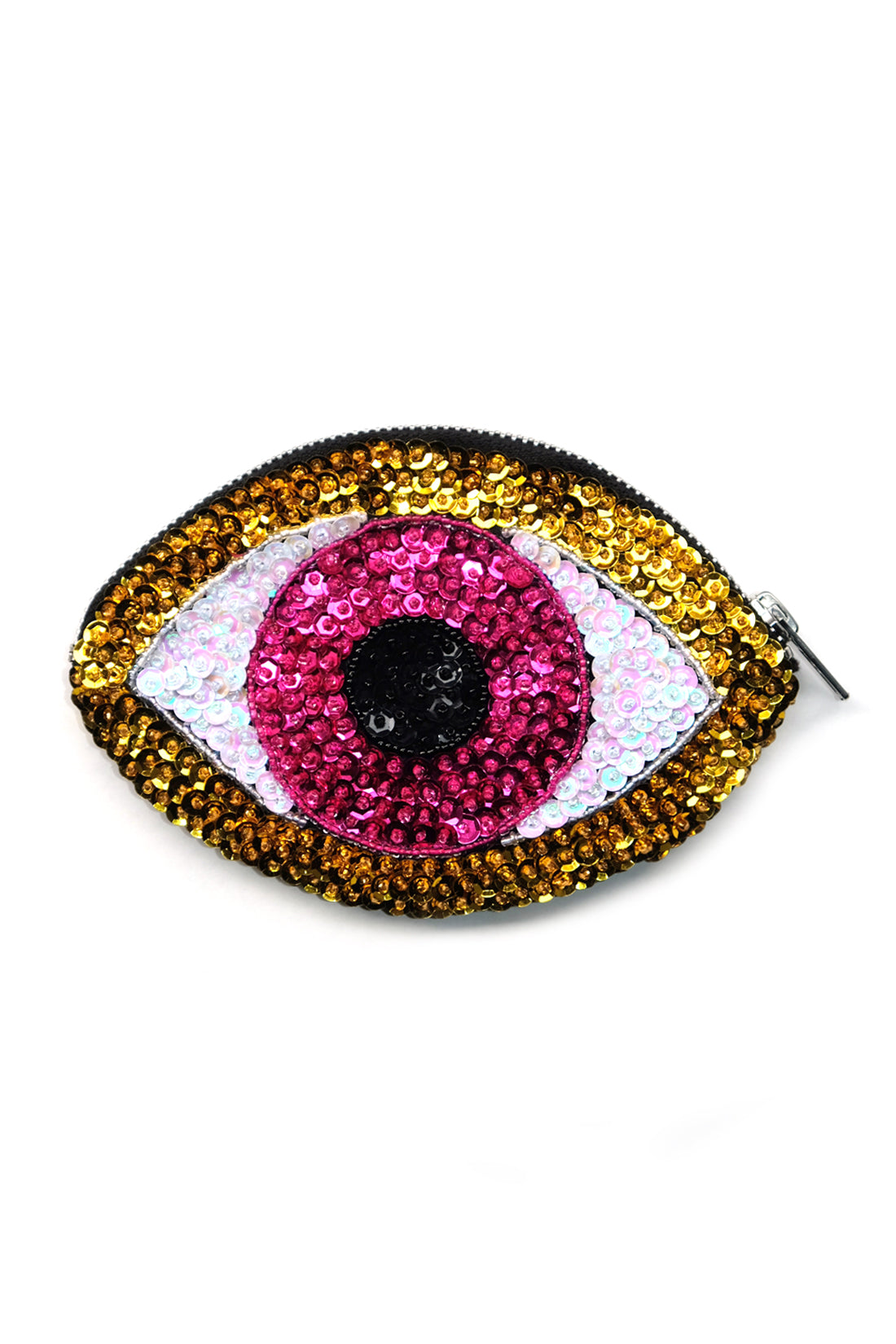 Evil Eye Wallet Pink/ Gold