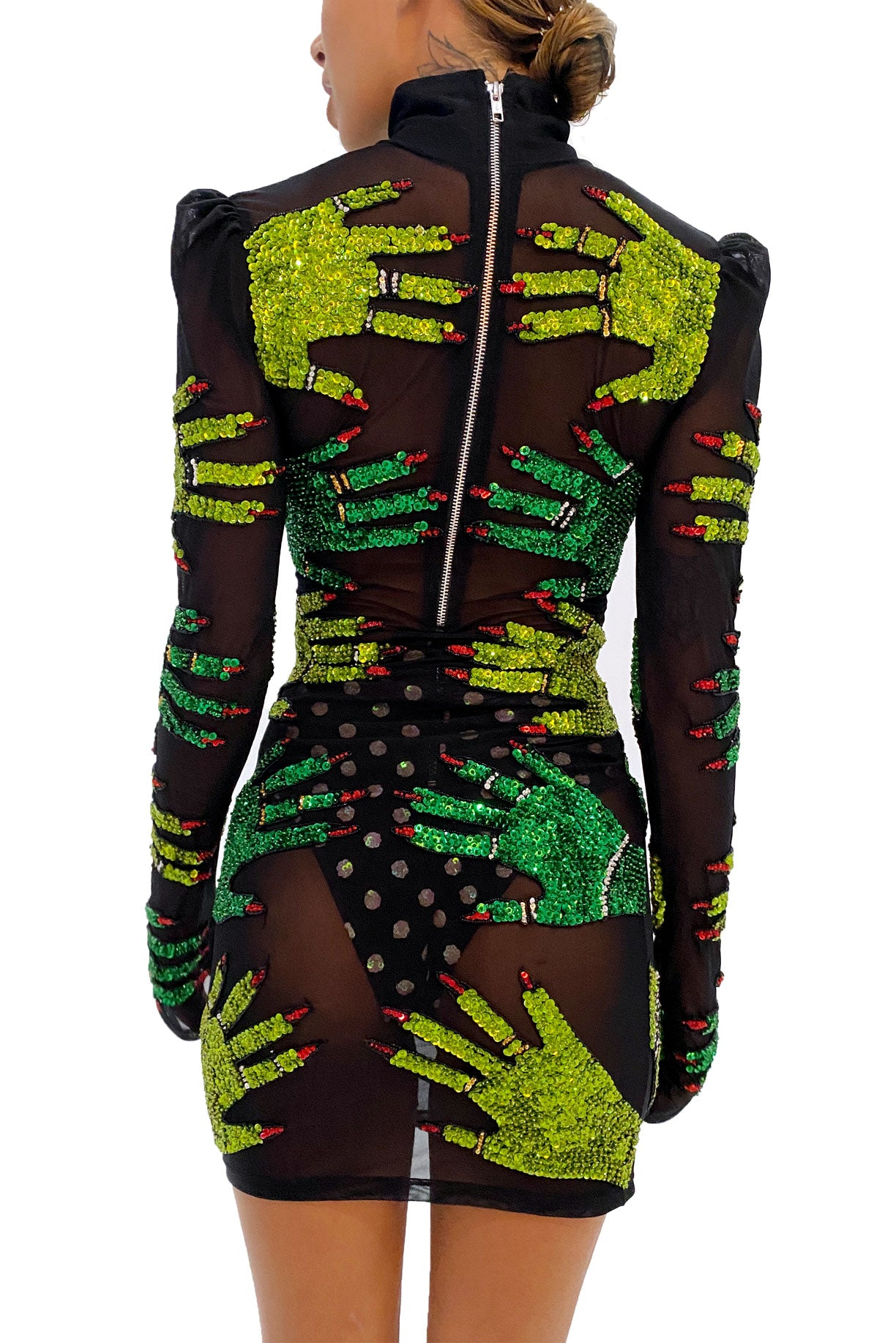 The Elixir Mesh Hands Dress